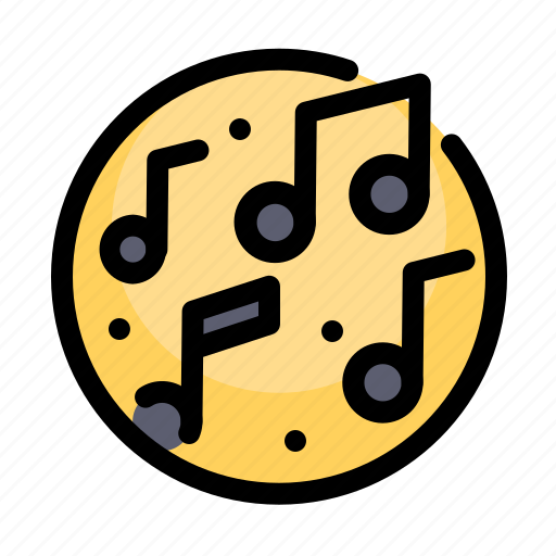 birthday, decoration, music, notes, party icon