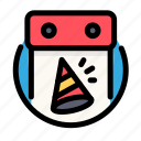 birthday, calendar, decoration, party icon