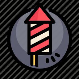 birthday, decoration, fireworks, party, rocket icon