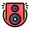 birthday, decoration, music, party, speaker icon