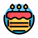 birthday, cake, decoration, party, pie icon