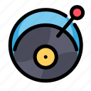 birthday, decoration, music, party, vinyl icon