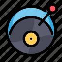 birthday, decoration, music, party, vinyl icon