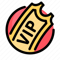 birthday, decoration, party, ticket, vip icon