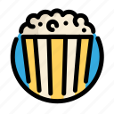 birthday, corn, decoration, party, pop corn icon