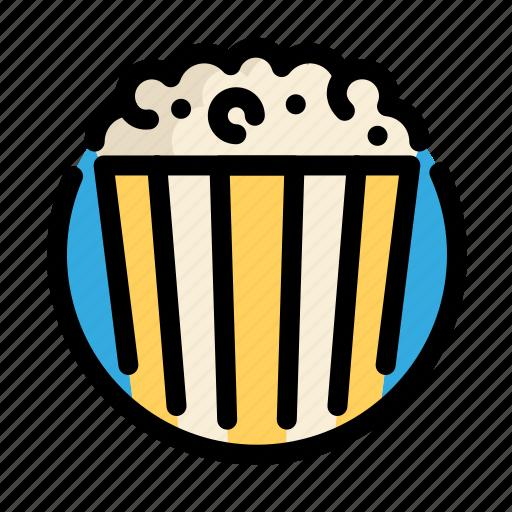 birthday, corn, decoration, party, pop corn icon