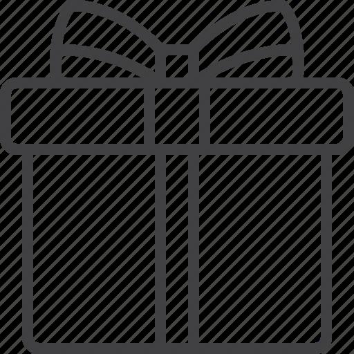 bow, box, gift, present icon