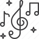 clef, music, notes, treble icon