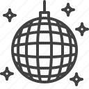 ball, club, disco, party icon