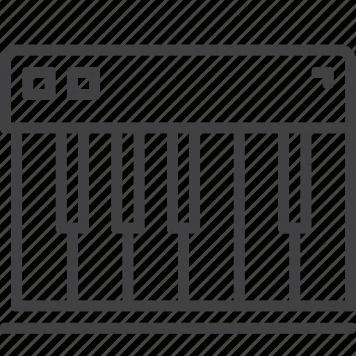 Keys, synthesizer, piano icon
