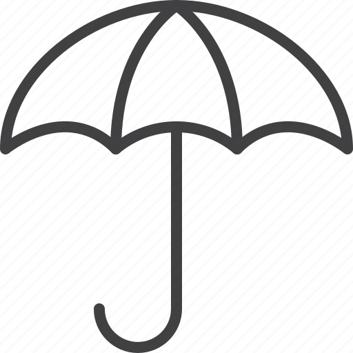 open, protection, umbrella, weather icon