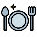 breakfast, dinner, dish, restaurant icon