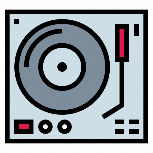 dj, music, music player, turntable, vinyl icon