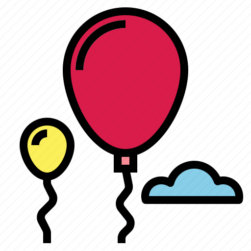 balloons, party icon