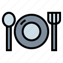 dinner, dish, restaurant icon