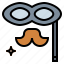 carnival, costume, eye, mask, mask party, party icon