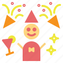 birthday, celebration, fun, party, sparkler icon