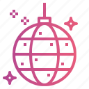 club, dance, disco, disco ball, party icon