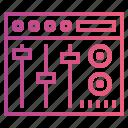 dj mixer, equalizer, mixing icon