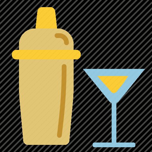 alcohol, bar, birthday, holiday, party, shaker icon