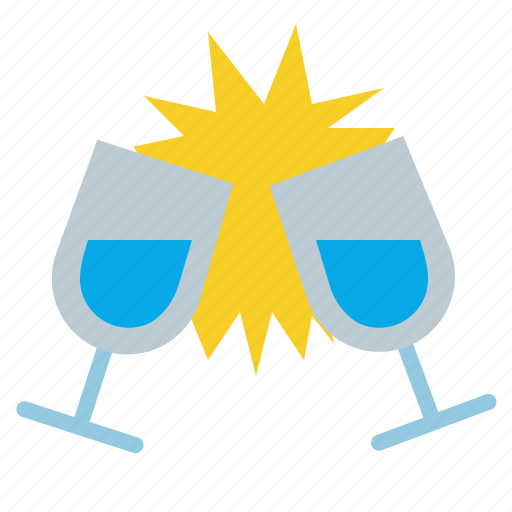 Toast, party, glasses, alcohol, wine icon