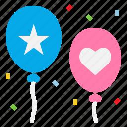 balloons, celebration, decoration, party icon