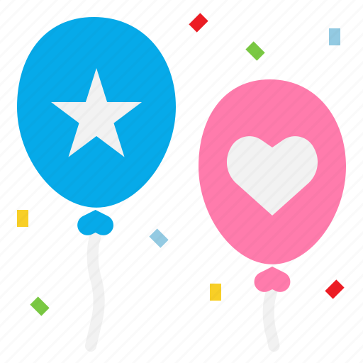 Decoration, party, balloons, celebration icon