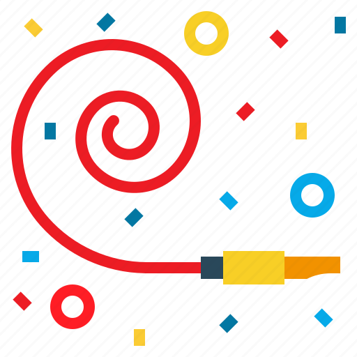 celebration, decorations, horn, party, whistle icon