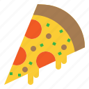 cheese, fast, pizza, slice icon