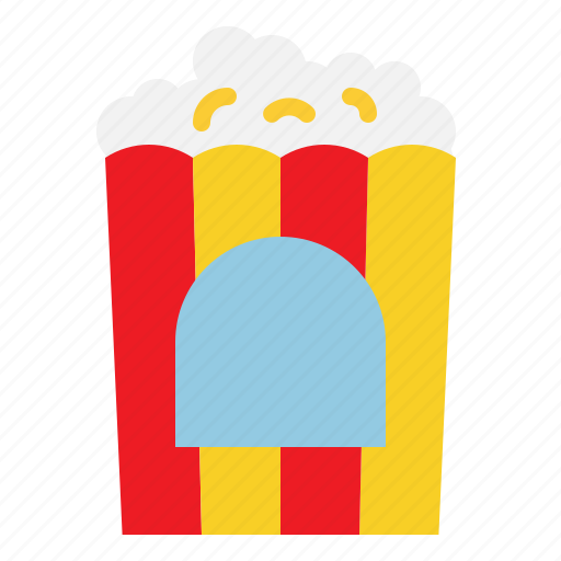Food, popcorn, corn, fastfood icon