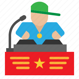 club, disc, jockey, musical, party, people icon