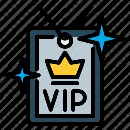 access, card, privileges, service, vip icon