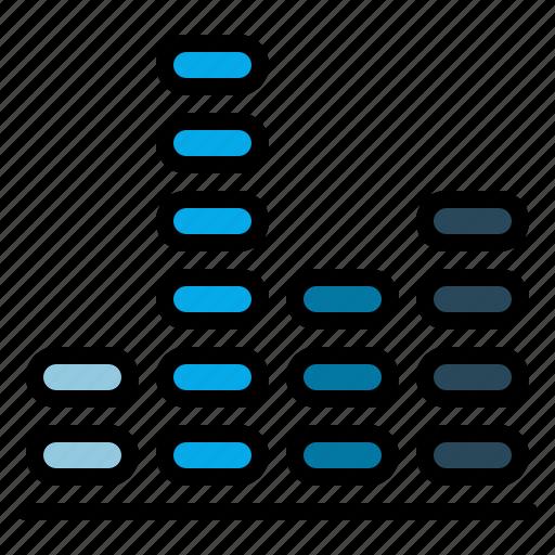 adjuster, equalizer, preferences, rhythm icon