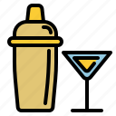alcohol, bar, birthday, holiday, party, shaker icon