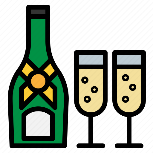 beverage, champagne, drink, glass, party icon