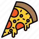 cheese, fast, food, pizza, slice icon