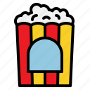 corn, fastfood, food, popcorn icon