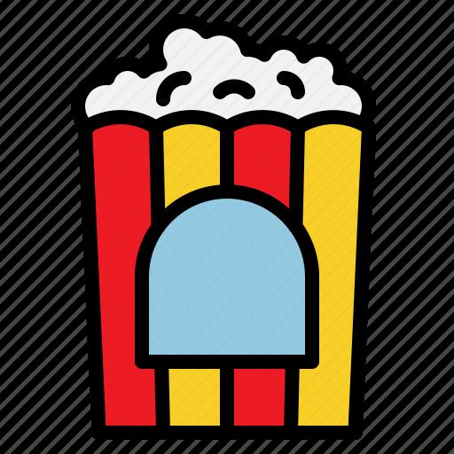 corn, fastfood, food, popcorn icon