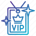 access, card, privileges, service, vip icon
