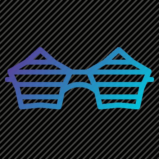 eye, fun, glasses, party, view icon