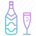 alcohol, bottle, celebration, champagne, cup, drinks, party icon