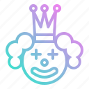 circus, clown, face, happy, joker, party, smile icon