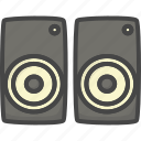 birthday, box, colored, holidays, party, sound icon
