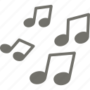 birthday, holidays, music, note, party icon