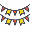 banner, birthday, celebration, decoration, flag, party, vacation icon
