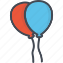 balloon, birthday, celebration, party, vacation icon
