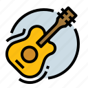 audio, guitar, music, party icon