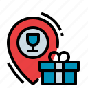box, gift, location, party, shopping icon
