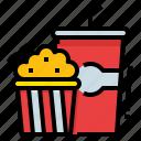 cinema, food, movie, party, popcorn icon