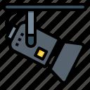 bright, electronic, light, spotlight icon